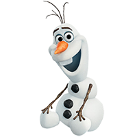 Olaf Disney Frozen Stickere 1