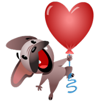 Mugsy In Love Sticker 10