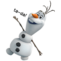 Olaf Disney Frozen Stickere 11
