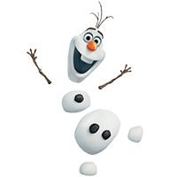 Olaf Disney's Frozen Stickers 16