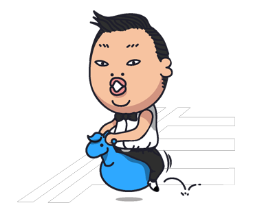 Psy Stickers Gangnam Style 17