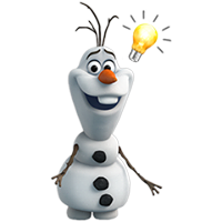 Olaf Disney Frozen Stickere 19