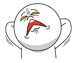 Moon Mad Angry Stickers 7