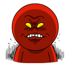 Moon Mad Angry Stickers 9