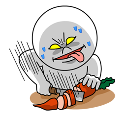 Moon Mad Angry Stickers 34