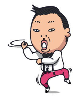 Psy Stickers Gangnam Style 2