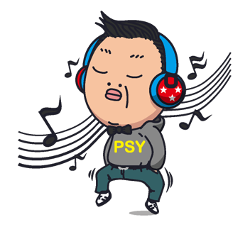 Psy Stickers Gangnam Style 35