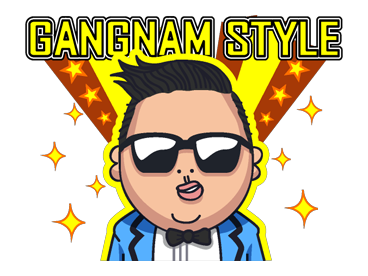 Psy Stickers Gangnam Style 6