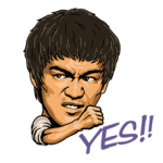 Bruce Lee Sticker 2