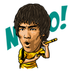 Bruce Lee Sticker 3