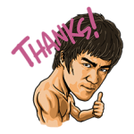 Bruce Lee Sticker 4