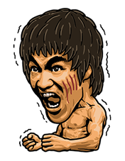 Bruce Lee Sticker 6