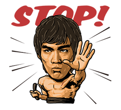 Bruce Lee Sticker 9