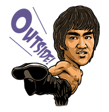 Bruce Lee Sticker 10
