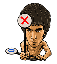 Bruce Lee Sticker 12