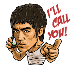 Bruce Lee Sticker 13