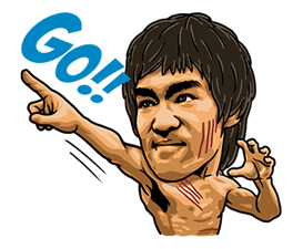 Bruce Lee Sticker 16