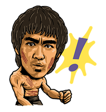 Bruce Lee Sticker 17
