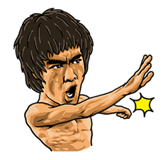 Bruce Lee Sticker 19