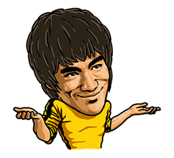Bruce Lee Sticker 22