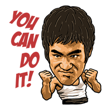 Bruce Lee Sticker 23