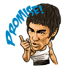 Bruce Lee Sticker 24