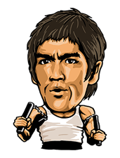 Bruce Lee Sticker 27