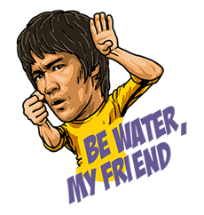 Bruce Lee Sticker 29