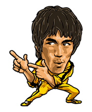 Bruce Lee Sticker 31