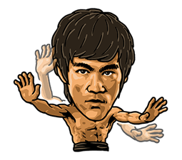 Bruce Lee Sticker 32