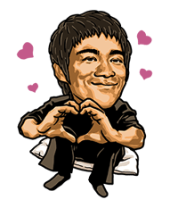 Bruce Lee Sticker 35