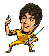 Bruce Lee Sticker 36