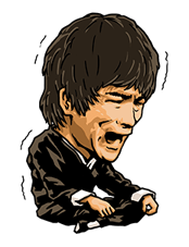 Bruce Lee Sticker 37