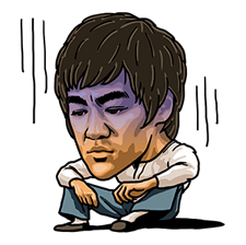 Bruce Lee Sticker 38