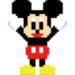 Sticker 8bit Disney 1