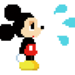 Sticker 8bit Disney 5