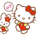 Ciao Kitty Sticker Happy Days 2