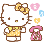 Bonjour Kitty Happy Days Sticker 4