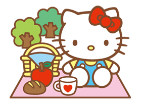 Hello Kitty Happy Days Sticker 22