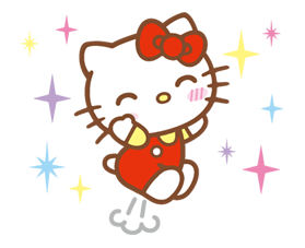 Hello Kitty Happy Days Etiqueta