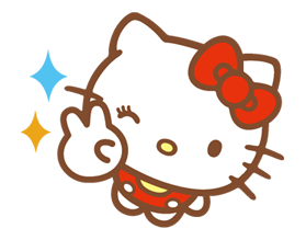 Hello Kitty Happy Days Sticker 30