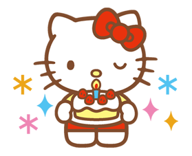 Hello Kitty Happy Days Sticker 35