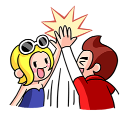 Vamos a Get Rich: La vida de Diana y Steve! Pegatina 9