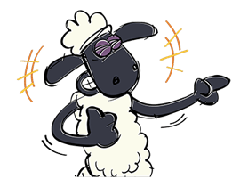 Shaun The Sheep Sticker 34