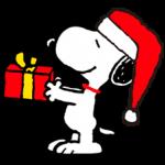 Snoopy క్రిస్మస్ స్టికర్లు 5