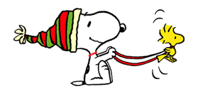 Snoopy Christmas Stickers 9