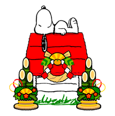 Snoopy Christmas Stickers 21