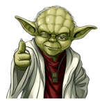 Colectia Star Wars Yoda Stickere 1