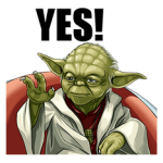 Colectia Star Wars Yoda Stickere 2