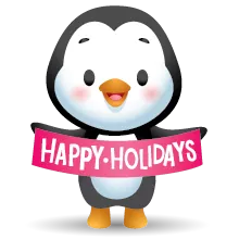 Waddles Holiday pelekat 21